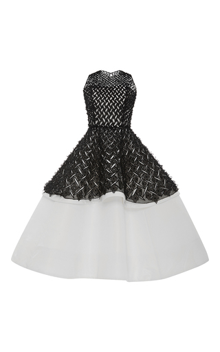Medium elizabeth kennedy multi two tiered embroidered cocktail dress