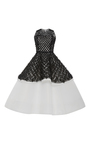 Two Tiered Embroidered Cocktail Dress by ELIZABETH KENNEDY for Preorder on Moda Operandi