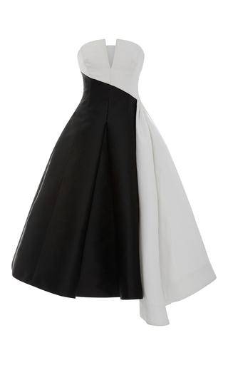 Strapless Bi Colored Cocktail Dress by ELIZABETH KENNEDY for Preorder on Moda Operandi