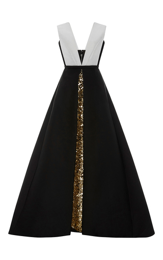 Medium elizabeth kennedy multi gold embroidered underskirt with bi colored over dress