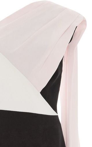 Color Block Fitted Shoulder Cape Gown by ELIZABETH KENNEDY for Preorder on Moda Operandi