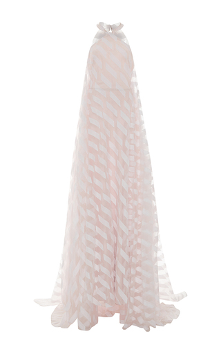 Medium elizabeth kennedy light pink parallelogram high neck gown