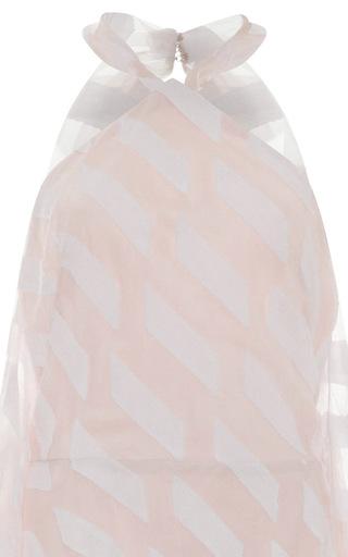 Parallelogram High Neck Gown by ELIZABETH KENNEDY for Preorder on Moda Operandi