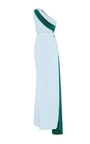 One Shoulder Gathered Cut Out Jersey Gown by ELIZABETH KENNEDY for Preorder on Moda Operandi