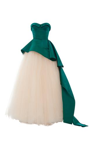 Medium elizabeth kennedy multi strapless bustier cascade peplum gown