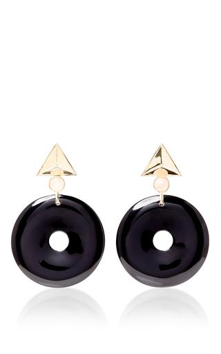 Medium elizabeth kennedy navy large geometric clip on earrings