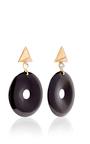 Large Geometric Clip On Earrings by ELIZABETH KENNEDY for Preorder on Moda Operandi