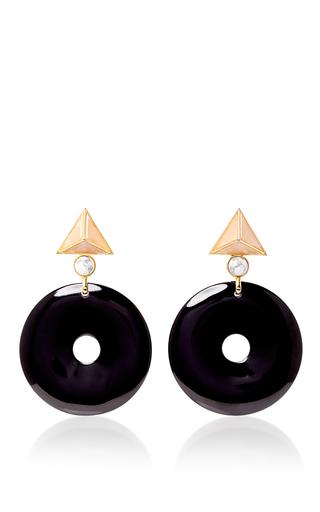 Medium elizabeth kennedy navy large geometric clip on earrings 2