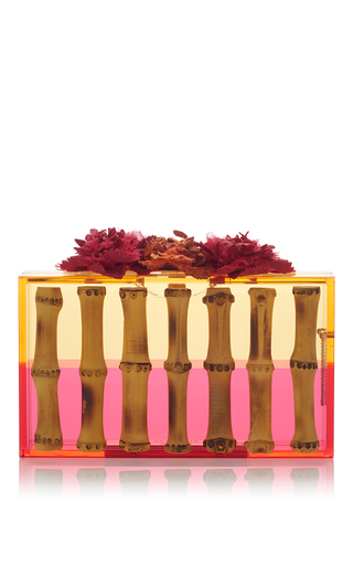 Medium charlotte olympia pink exotic pandora clutch