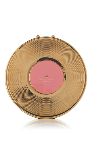 Gold Record Clutch by CHARLOTTE OLYMPIA for Preorder on Moda Operandi
