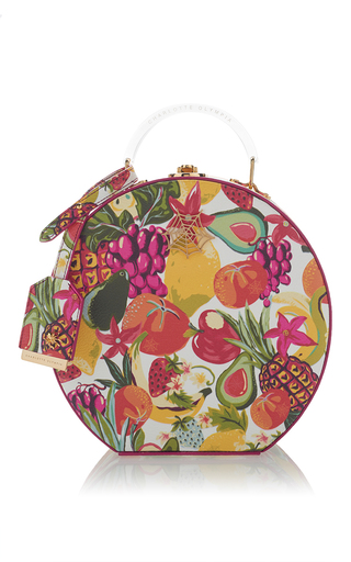 Medium charlotte olympia print atkinson fruit salad top handle case