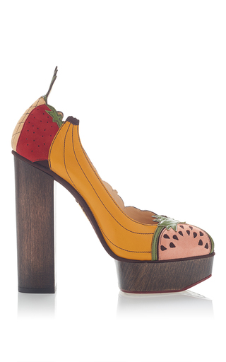 Bananas Is My Business Pump by CHARLOTTE OLYMPIA for Preorder on Moda Operandi
