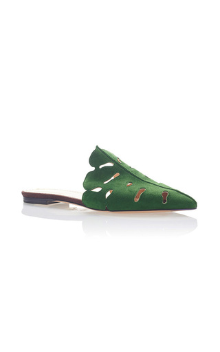 Medium charlotte olympia green verdant slipper
