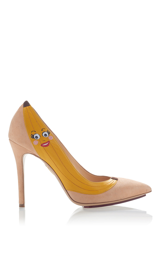 Chiquita Banana Pump by CHARLOTTE OLYMPIA for Preorder on Moda Operandi