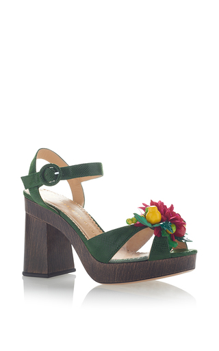 Medium charlotte olympia green tropical into the wild sandal