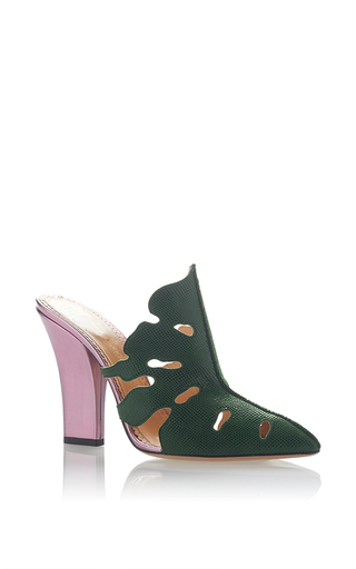 Medium charlotte olympia green amazonia slide
