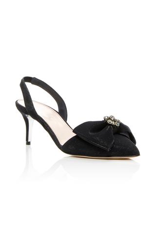 Medium oscar de la renta black pamie slingback bow heels
