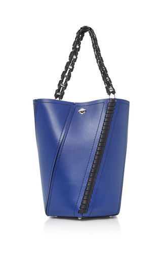 Medium proenza schouler blue hex medium paneled leather tote