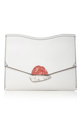 Medium proenza schouler white embellished leather clutch