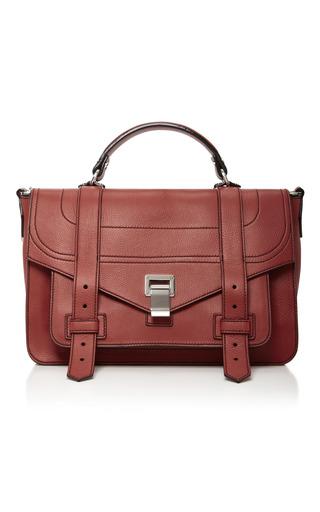 Medium proenza schouler brown ps1 medium leather satchel