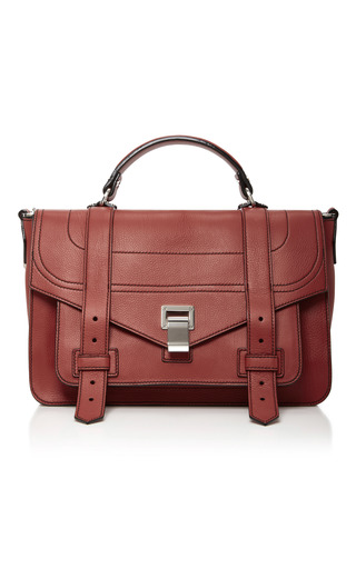Medium proenza schouler brown ps1 medium leather satchel