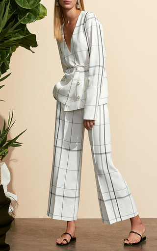Plaid Cropped Pajama Pants by PROTAGONIST for Preorder on Moda Operandi