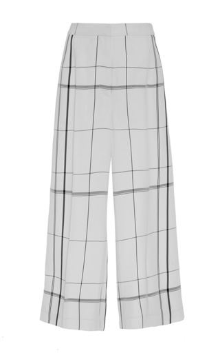 Medium protagonist plaid plaid cropped pajama pants