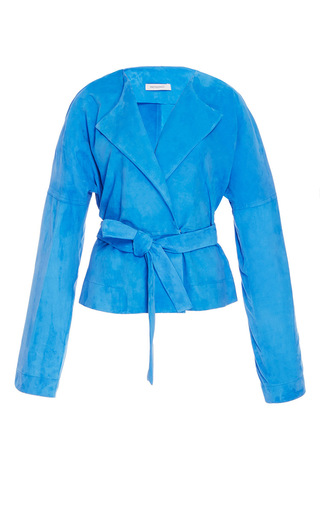 Lambskin Suede Jacket by PROTAGONIST for Preorder on Moda Operandi