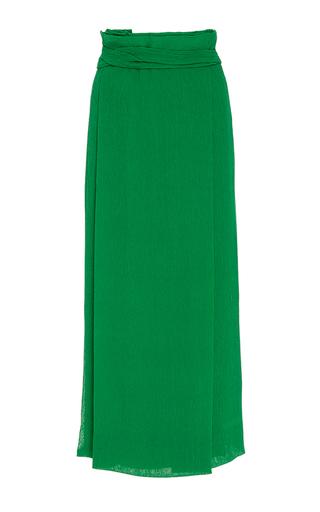 Medium protagonist green pleated wrap skirt