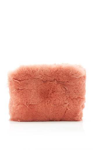 Medium brother vellies pink fox fur pouch