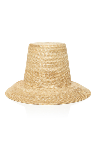 Medium samuji tan topper straw hat