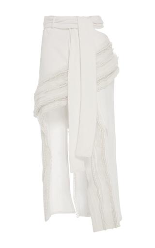 Tier Embellished Denim Skirt by JONATHAN SIMKHAI for Preorder on Moda Operandi