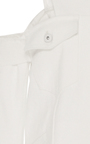 Raw Denim Cold Shoulder Jacket by JONATHAN SIMKHAI for Preorder on Moda Operandi