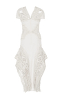 Mirror Cotton Lace Cap Sleeve Dress by JONATHAN SIMKHAI for Preorder on Moda Operandi