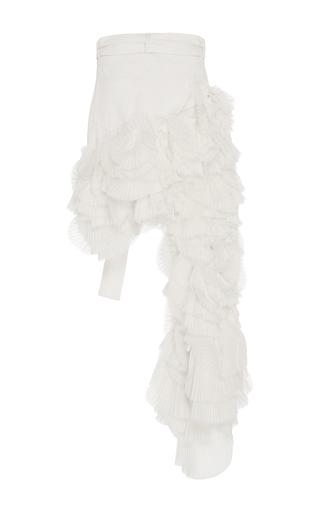 Fan Pleated Denim Skirt by JONATHAN SIMKHAI for Preorder on Moda Operandi