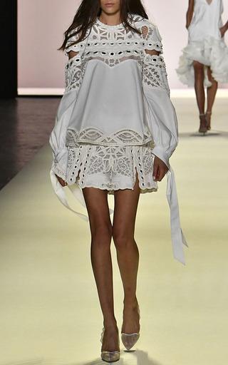 Mirror Cotton Cutout Sleeve Blouse by JONATHAN SIMKHAI for Preorder on Moda Operandi