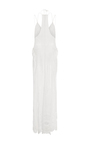 Crochet Embroidered Deep V Gown by JONATHAN SIMKHAI for Preorder on Moda Operandi