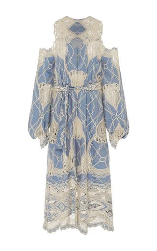 Medium jonathan simkhai blue crochet cold shoulder robe