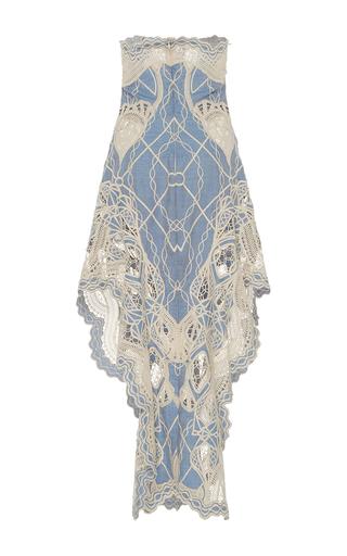 Crochet Bustier Ruffle Dress by JONATHAN SIMKHAI for Preorder on Moda Operandi