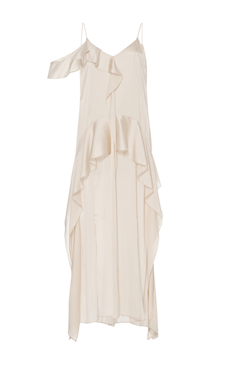 Silk Ruffle Midi Dress by JONATHAN SIMKHAI for Preorder on Moda Operandi