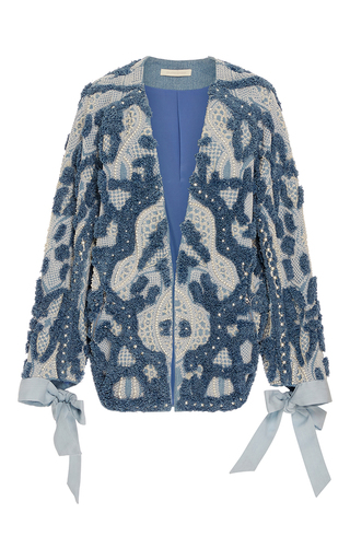 Medium jonathan simkhai blue embellished denim jacket