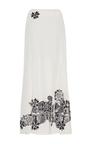 Silk Cutout Embroidered Slit Skirt by JONATHAN SIMKHAI for Preorder on Moda Operandi