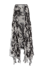 Silk Tie Dye Trumpet Skirt by JONATHAN SIMKHAI for Preorder on Moda Operandi