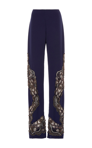 Medium jonathan simkhai navy pearl beaded pant