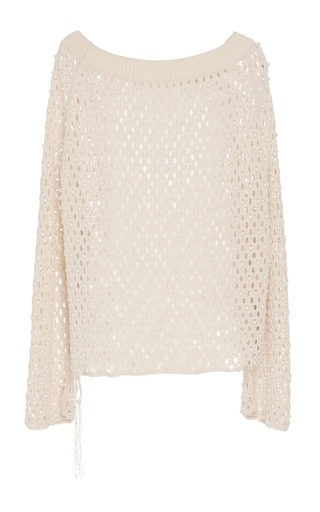 Cage Pearl Off Shoulder Top by JONATHAN SIMKHAI for Preorder on Moda Operandi