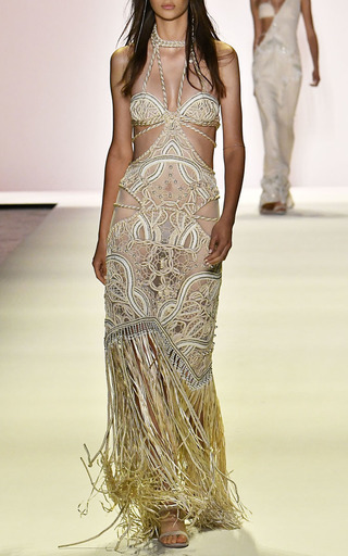 Twisted Rope Embroidered Gown by JONATHAN SIMKHAI for Preorder on Moda Operandi