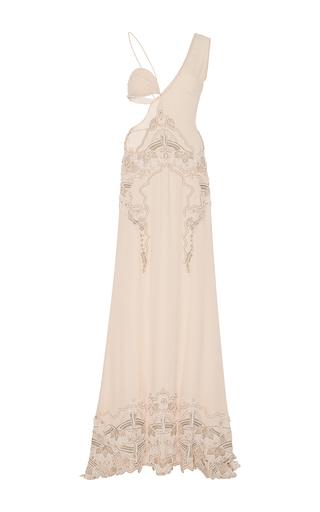 Medium jonathan simkhai light pink pearl beaded bustier gown