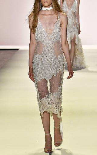 Pearl Beaded Ombre Dress by JONATHAN SIMKHAI for Preorder on Moda Operandi