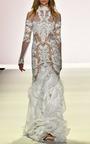 Beaded Ruffle Gown by JONATHAN SIMKHAI for Preorder on Moda Operandi