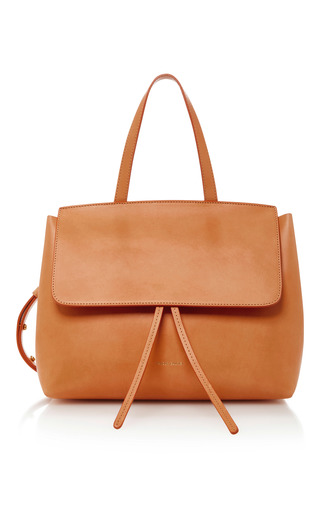 Medium mansur gavriel nude lady mini leather tote